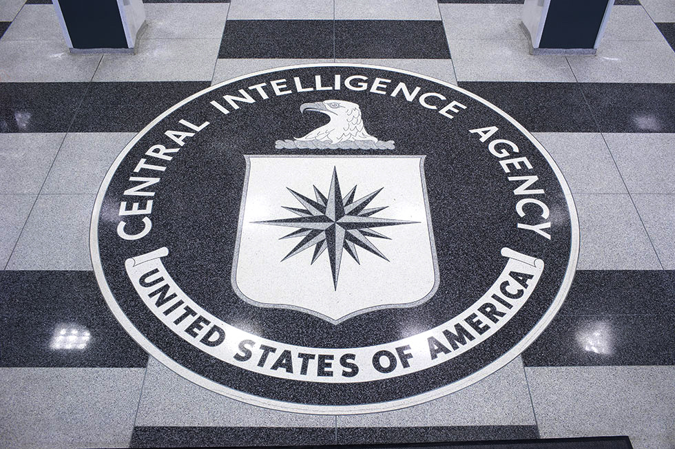 Seal of the CIA at headquarters in Langley, Virginia. Public domain