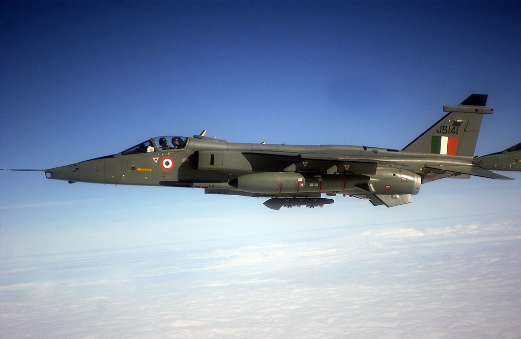 An Indian Air Force Jaguar GR-1 Shamser (Sword of Justice) ground attack aircraft. Wikimedia Commons/U.S. Air Force