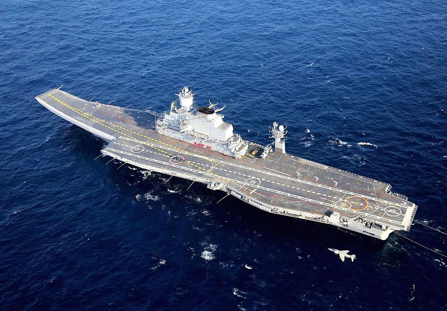 INS Vikramaditya with a Sea Harrier. Wikimedia Commons/Creative Commons/Indian Navy