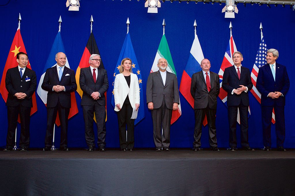 P5+1 foreign ministers announce the framework of a comprehensive framework agreement with Iran. Wikimedia Commons/Department of State
