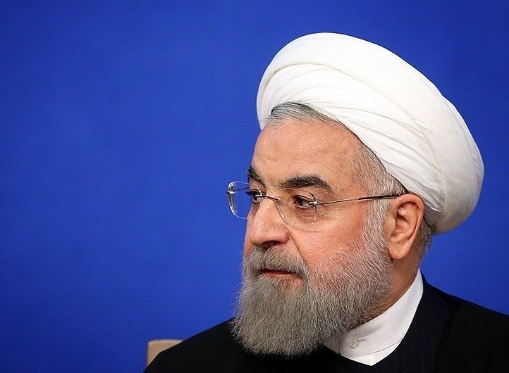 President Hassan Rouhani at a press conference. Wikimedia Commons/Creative Commons/Meghdad Madadi