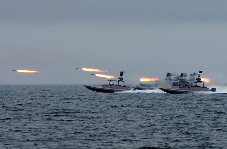 IRGC-N commandos and missile boats in the Great Prophet IX exercise. Wikimedia Commons/Shahab-o-din Vajedi