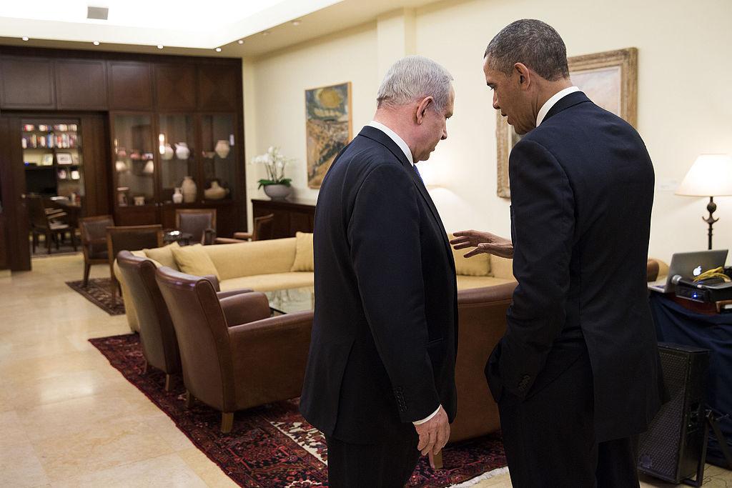 President Barack Obama talks with Israeli Prime Minister Benjamin Netanyahu. Wikimedia Commons/The White House