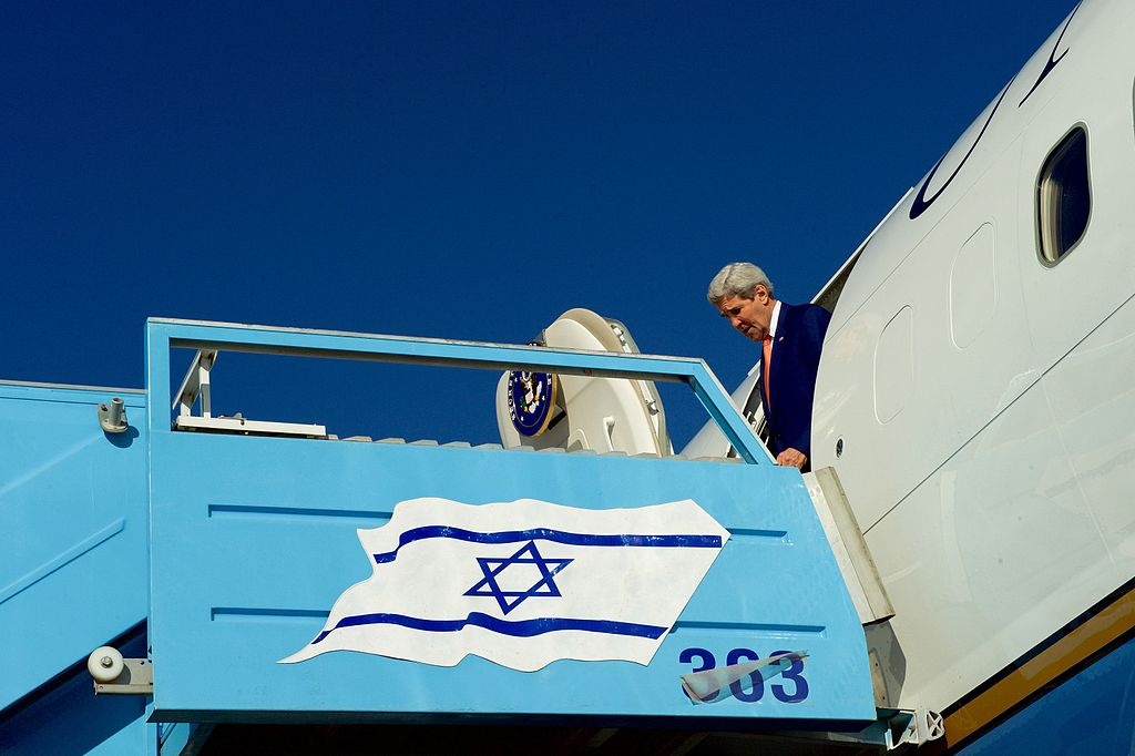 Secretary of State John Kerry at Ben Gurion International Airport in Tel Aviv, Israel. Wikimedia Commons/Department of State