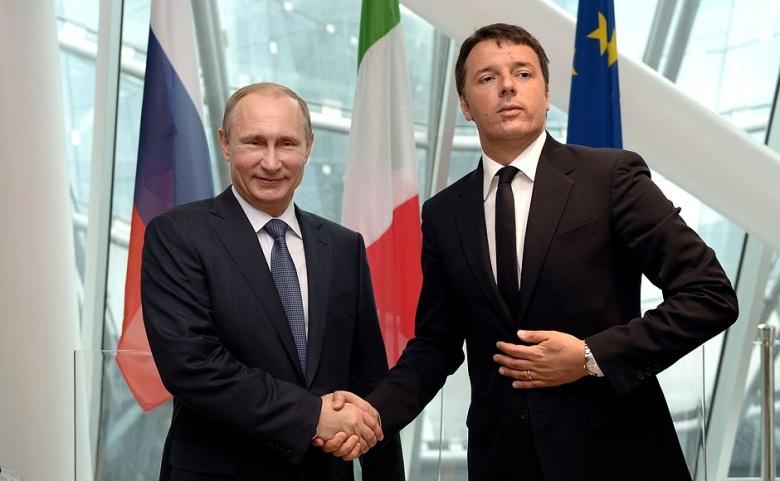Vladimir Putin with Matteo Renzi. Kremlin.ru