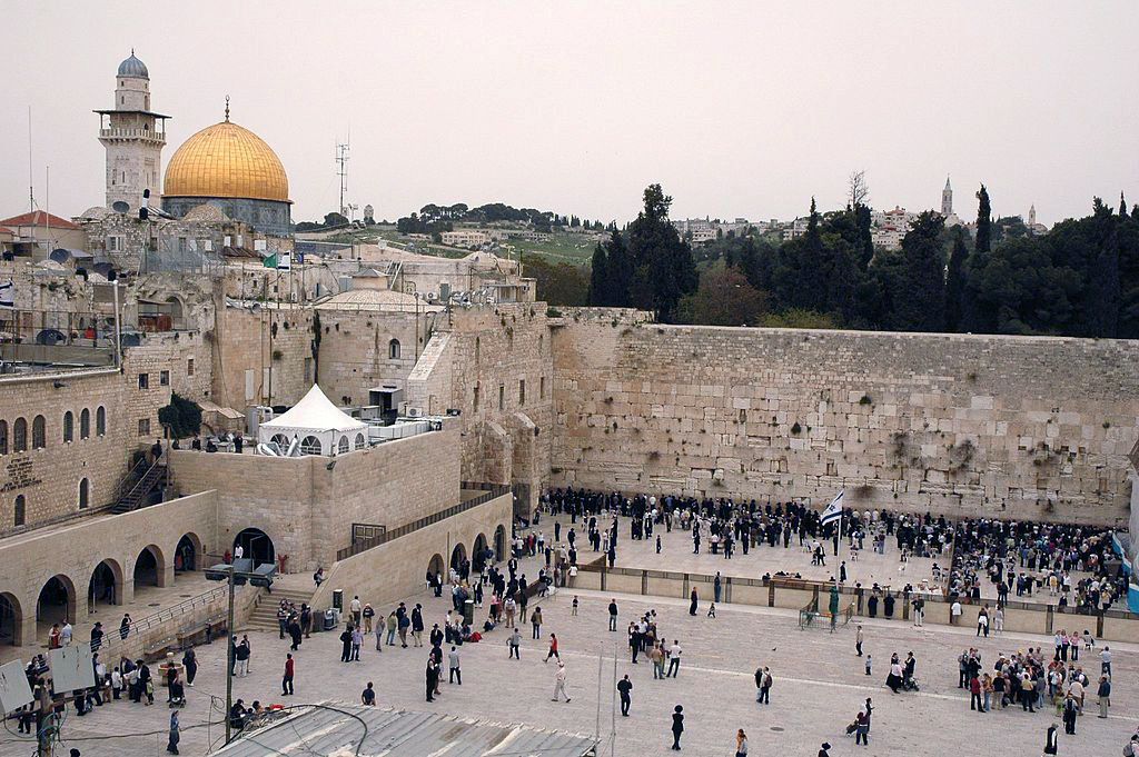 Dome of the Rock and Wailing Wall. Wikimedia Commons/Creative Commons/Peter Mulligan