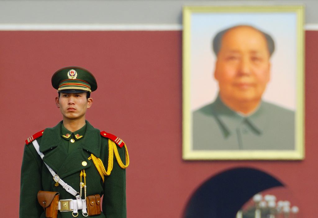 Soldier in Tiananmen Square. Flickr/Creative Commons/Richard Fisher