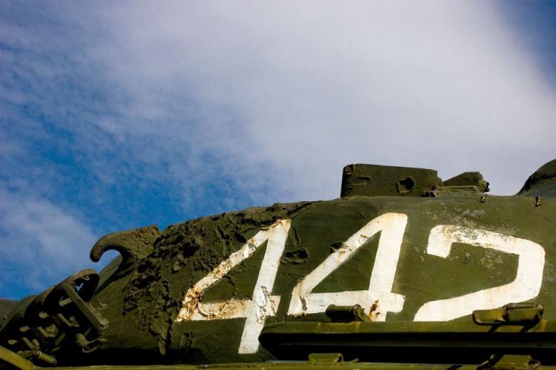 The first Armenian tank to roll into Karabakh. Flickr/Vladimer Shioshvili