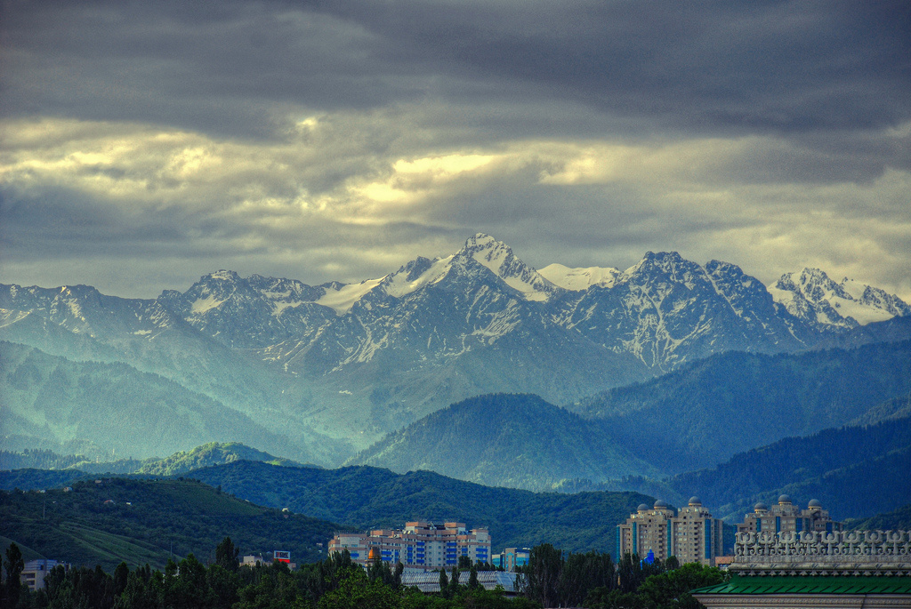 Early morning in Almaty, Kazakhstan. Flickr/Creative Commons/@Irene2005