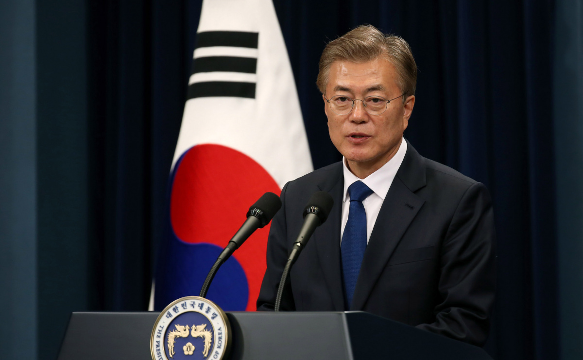 President Moon Jae-in's first press conference, May 10, 2017. Flickr/Republic of Korea