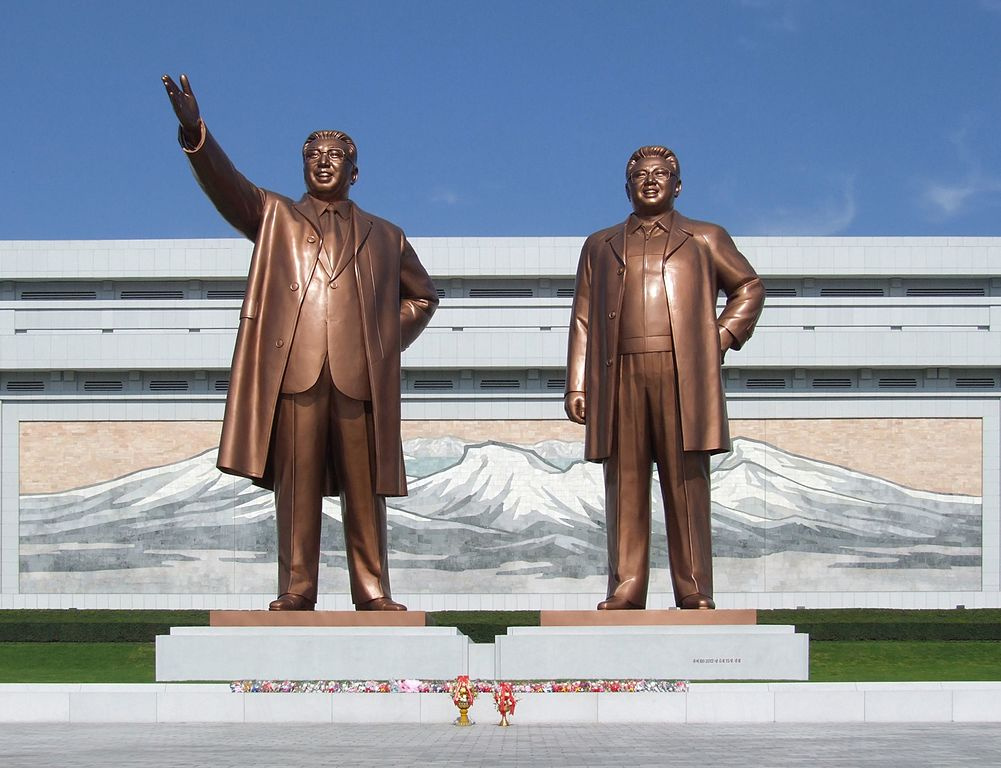 Mansudae Grand Monument, Pyongyang. Wikimedia Commons/Creative Commons/@Nicor