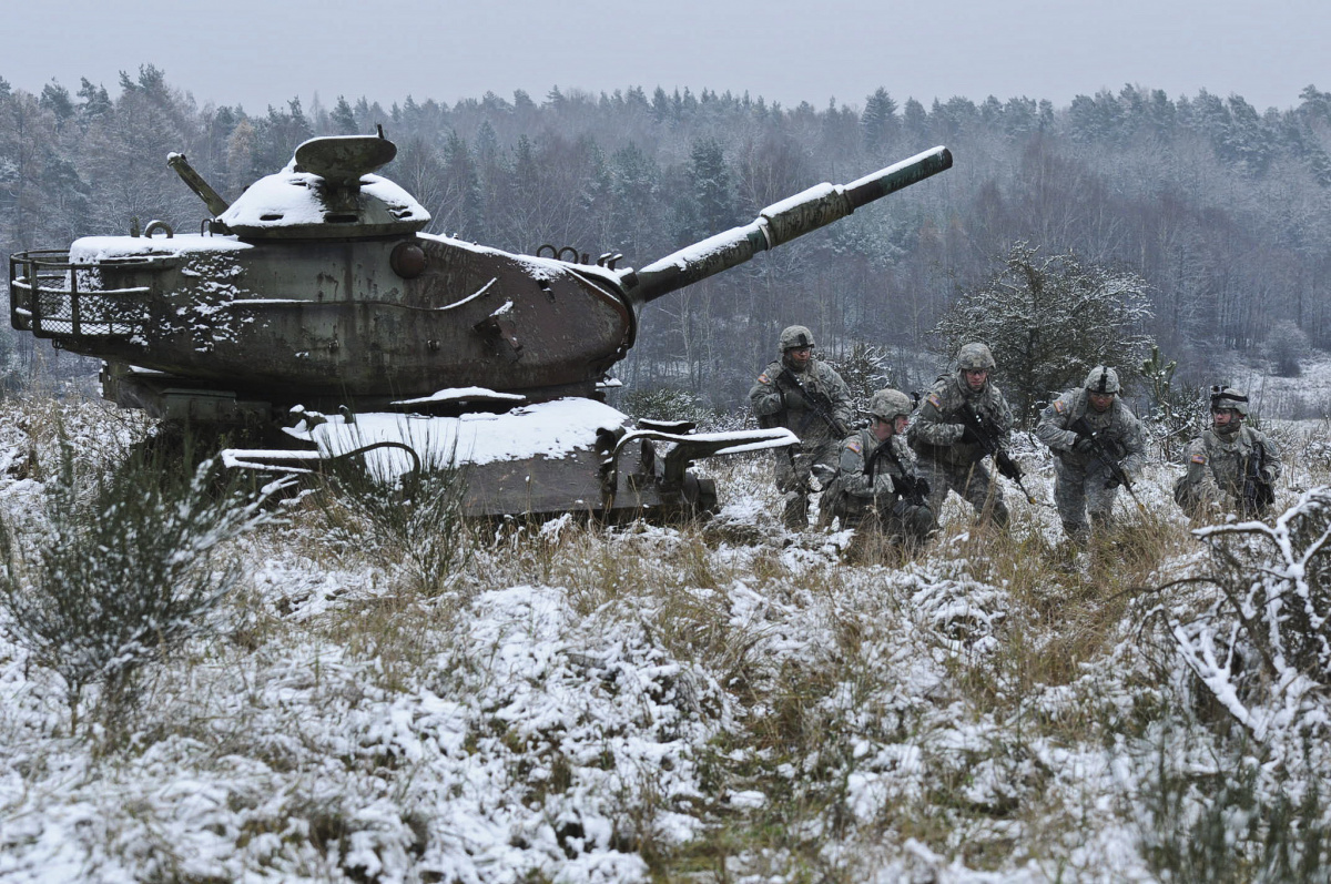 Soldiers during a squad fire range at Grafenwoehr Training Area, Germany. Flickr/U.S. Army