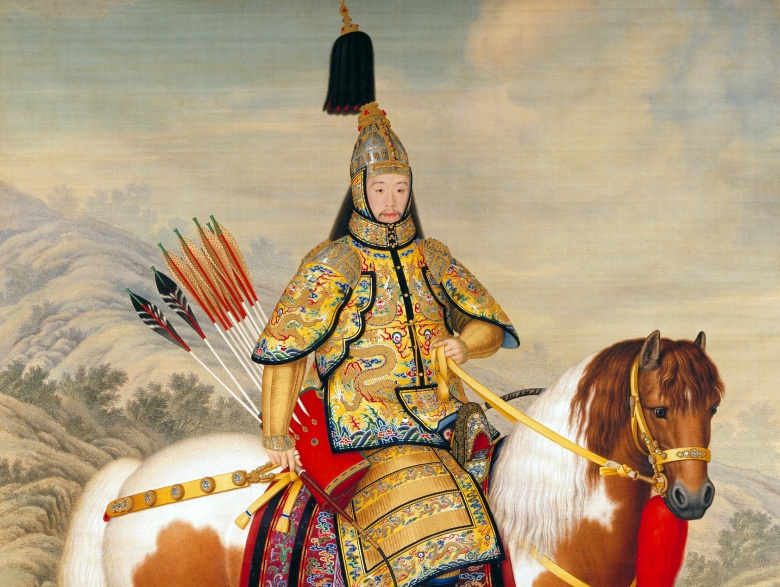 """""""The Qianlong Emperor in Ceremonial Armour on Horseback"""" by Giuseppe Castiglione. Wikimedia Commons/Public domain"""