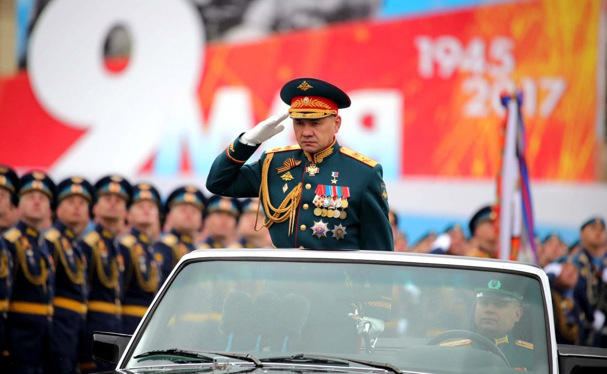 Defense Minister Sergei Shoigu at the military parade in Red Square, May 9, 2017. Kremlin.ru