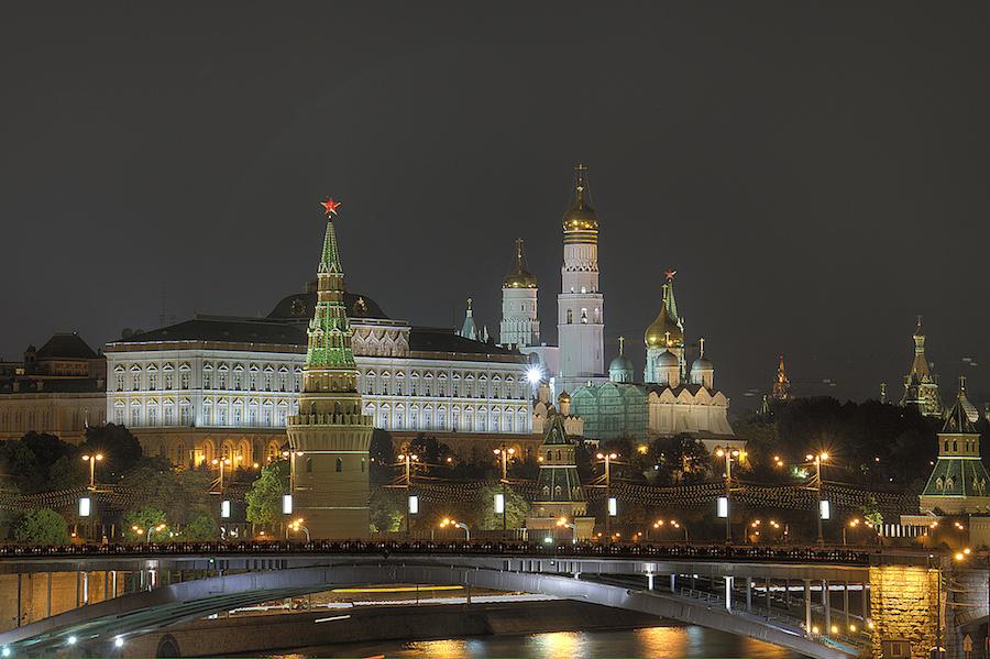 Moscow Kremlin at night. Flickr/Creative Commons/Pavel Kazachkov