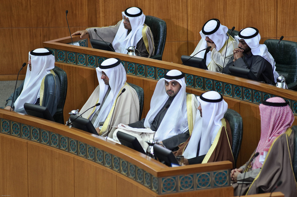 Government ministers and MPs during the state opening of the Kuwaiti parliament's 14th legislative term. Flickr/Creative Commons