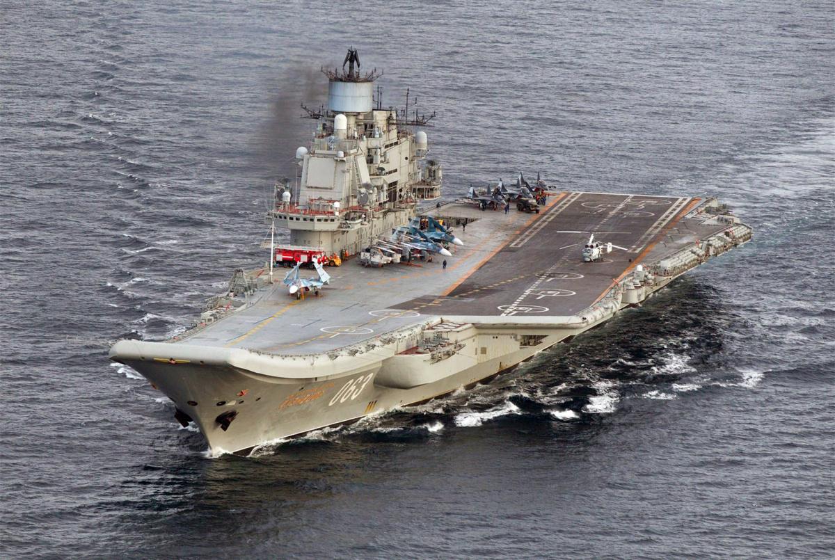 Photo Of Russian Aircraft Carrier Admiral Kuzsov