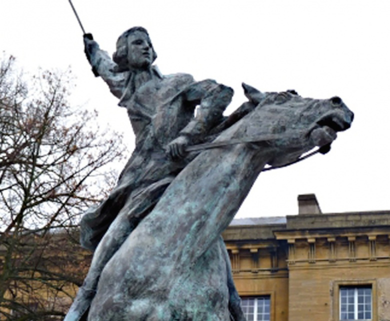 Statue of the Marquis de Lafayette in Metz, France. Wikipedia/@Bava Alcide57