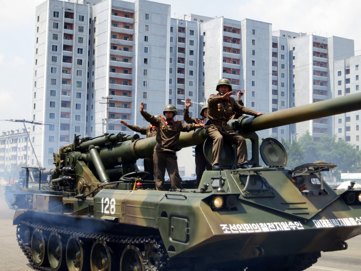 Victory Day parade in Pyongyang. Flickr/Creative Commons/Stefan Krasowski
