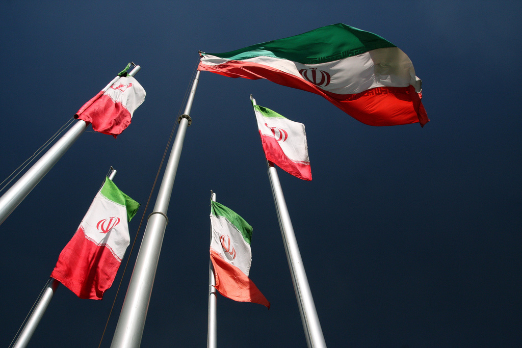 Iranian flags. Flickr/Creative Commons/@yeowatzup