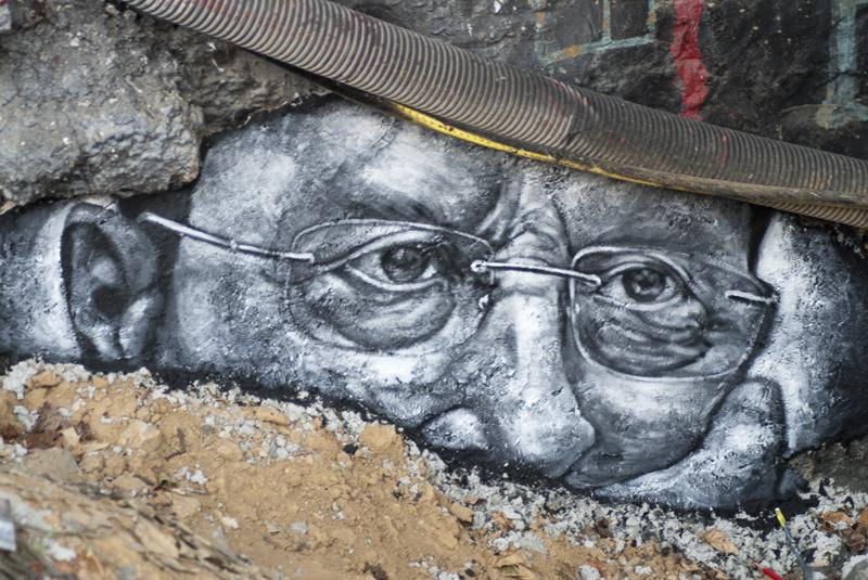 Graffiti of Michel Aoun. Flickr/Creative Commons/Thierry Ehrmann
