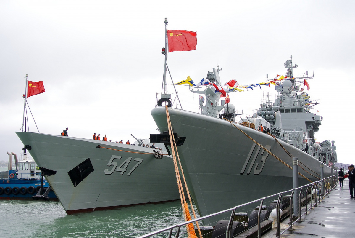 People's Liberation Army Navy ships in Auckland. Flickr/Creative Commons/@ping.shakl