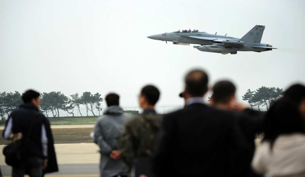 EA-18 Growler at Kunsan Air Base, South Korea. Flickr/U.S. Department of Defense