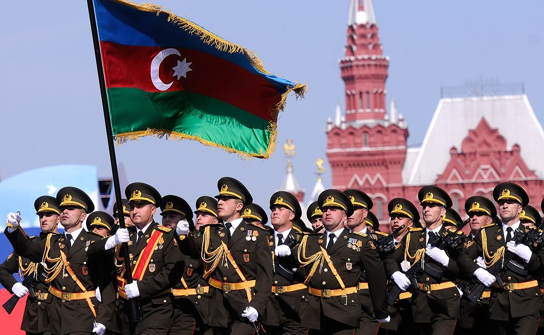 Azerbaijani soldiers at a 2010 parade in Moscow. Kremlin.ru/TASS
