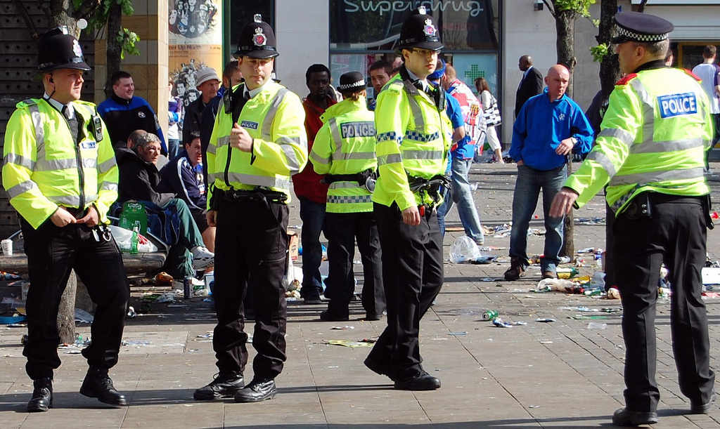 Greater Manchester Police officers. Wikimedia Commons/Creative Commons/Terry Waller