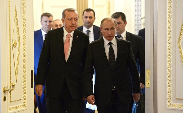 Image: Erdogan and Putin. Kremlin photo.