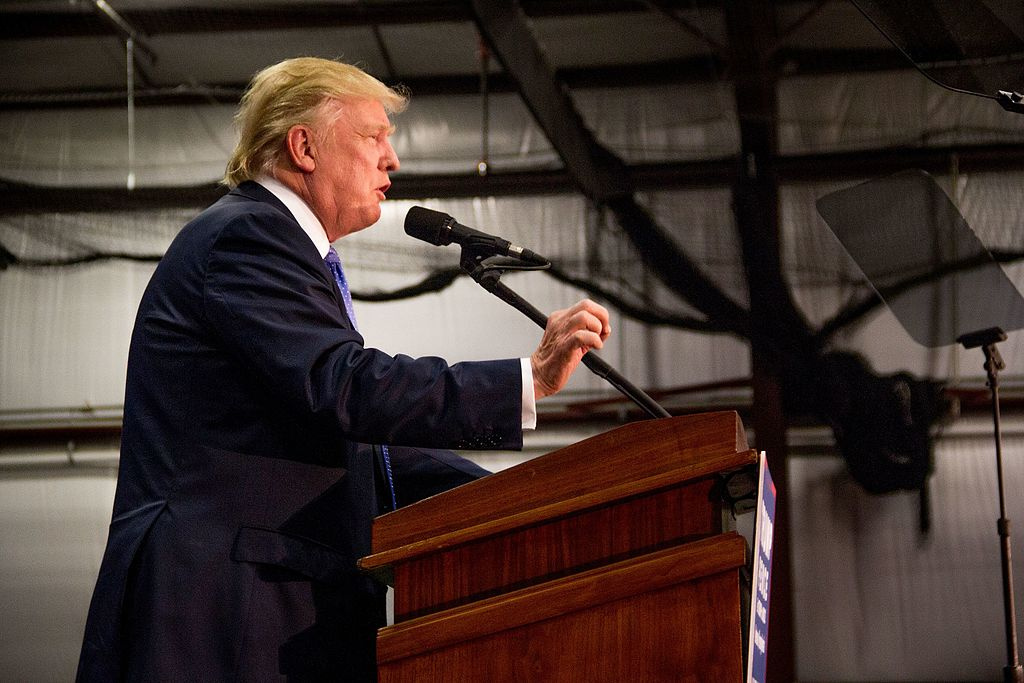 Donald Trump holds a rally in Newtown, PA. Wikimedia Commons/Creative Commons/Michael Candelori