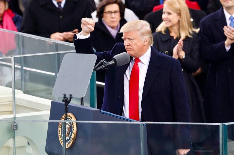 Inauguration of Donald Trump. Facebook/The White House
