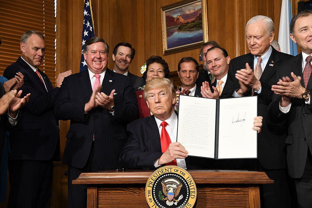 Donald Trump signs Executive Order 3961. Wikimedia Commons/Public domain