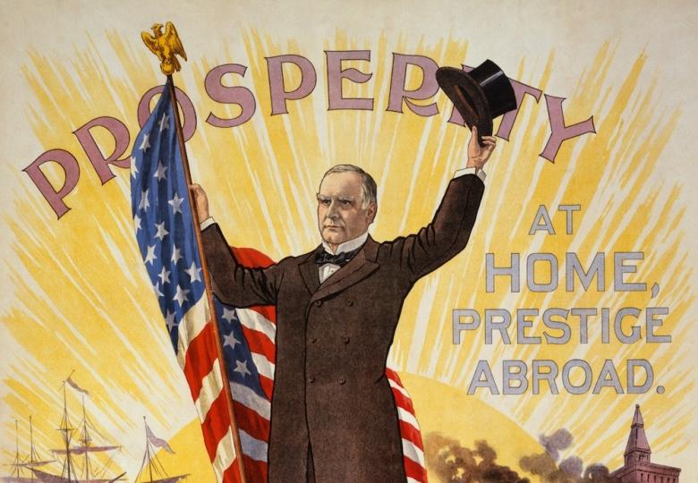 1896 William McKinley campaign poster. Wikimedia Commons/Public domain