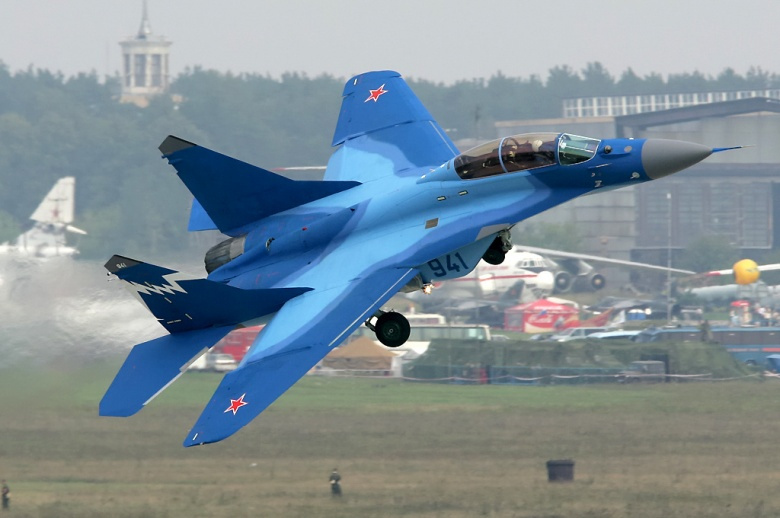 A MiG-29K (9-41) carrier-based multirole fighter. Wikimedia Commons/Dmitriy Pichugin.