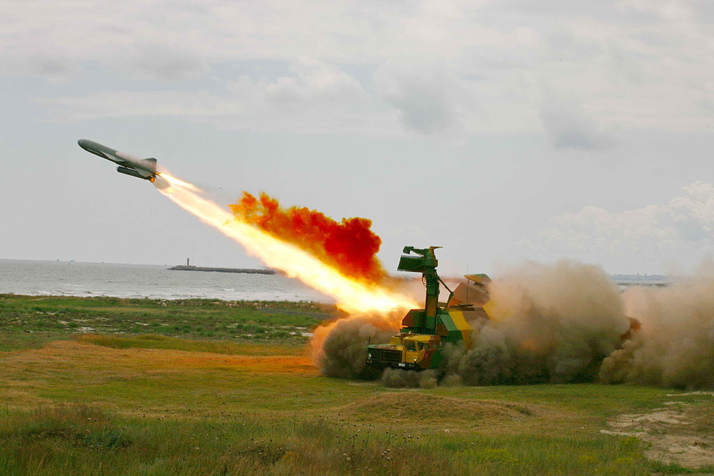 Rubezh antiship missile-launching system. Wikimedia Commons/Creative Commons/Ştefan Ciocan