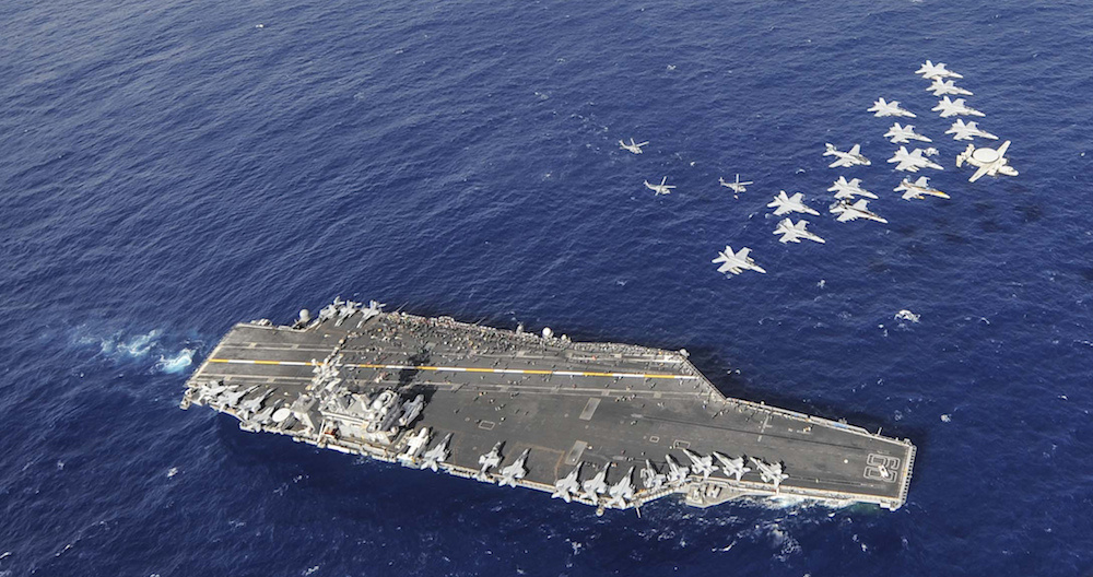 USS Nimitz conducts an aerial demonstration. Flickr/U.S. Navy