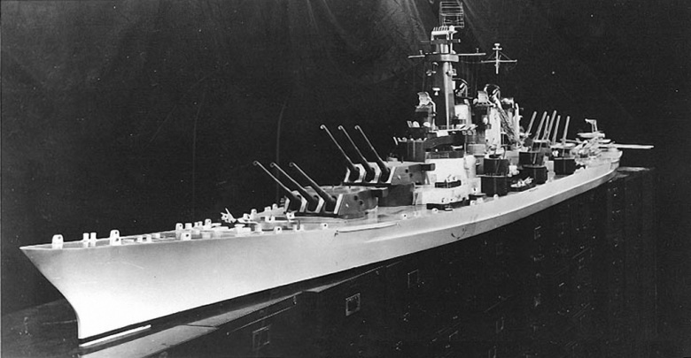 Model's conception of the Montana class. Wikimedia Commons/U.S. Navy