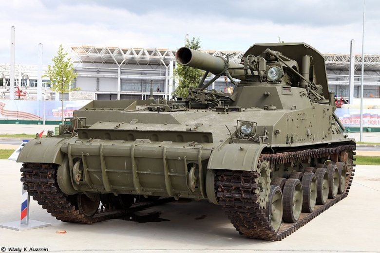 240-millimeter self-propelled mortar 2S4 Tyulpan. Wikimedia Commons/Vitaly V. Kuzmin