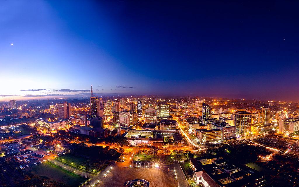 Central Nairobi at night. Wikimedia Commons/Creative Commons/Mutua Matheka