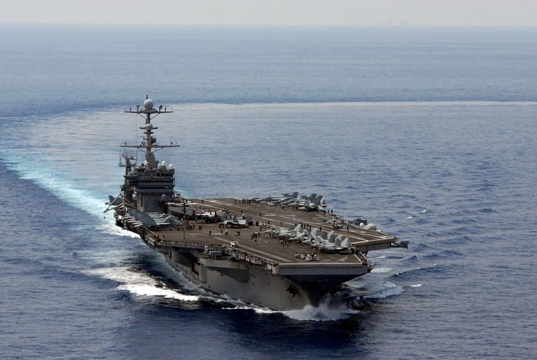 The Nimitz-class aircraft carrier USS George Washington is underway in the South China Sea​. Flickr/Official U.S. Navy