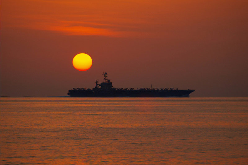 USS John C. Stennis in the Arabian Sea. Flickr/U.S. Navy