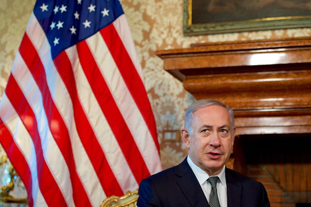 Israeli Prime Minister Benjamin Netanyahu addresses reporters in 2016. Wikimedia Commons/U.S. Department of State