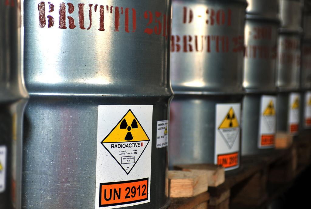 Uranium ore in barrels. Flickr/IAEA Imagebank