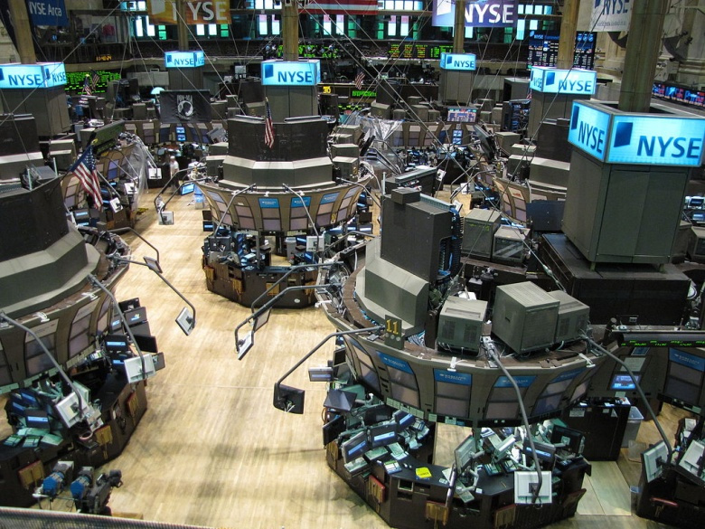 The New York Stock Exchange. Wikimedia Commons/Kevin Hutchinson