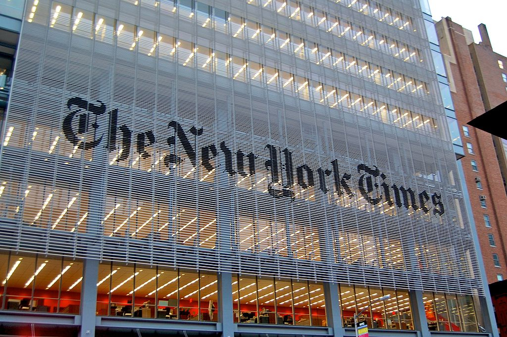New York Times headquarters. Wikimedia Commons/Creative Commons/@Haxorjoe