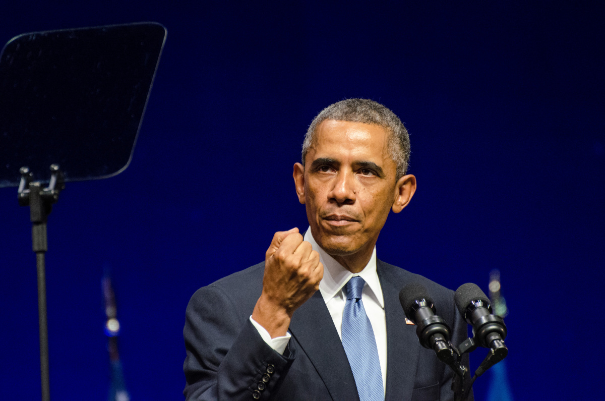 President Barack Obama gives a speech in Nordea Concert Hall, Tallinn, Estonia. Flickr/Creative Commons/Johan Viirok
