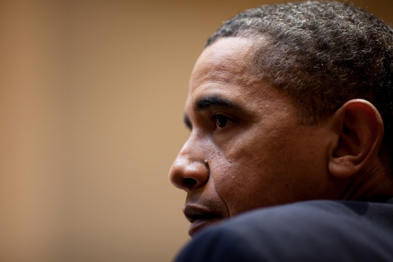 Image: President Barack Obama listens during a meeting in the Roosevelt Room of the White House, Jan. 6, 2010. Flickr/The White House