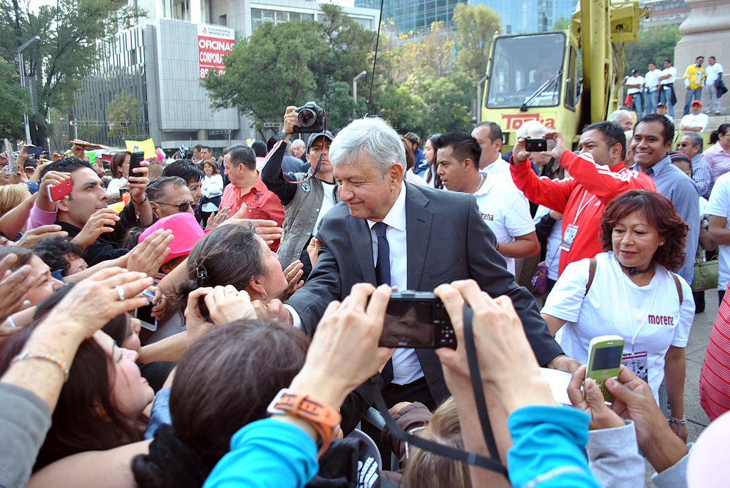 Andrés Manuel López Obrador in a 2012 rally. Wikimedia Commons/Creative Commons/@ProtoplasmaKid