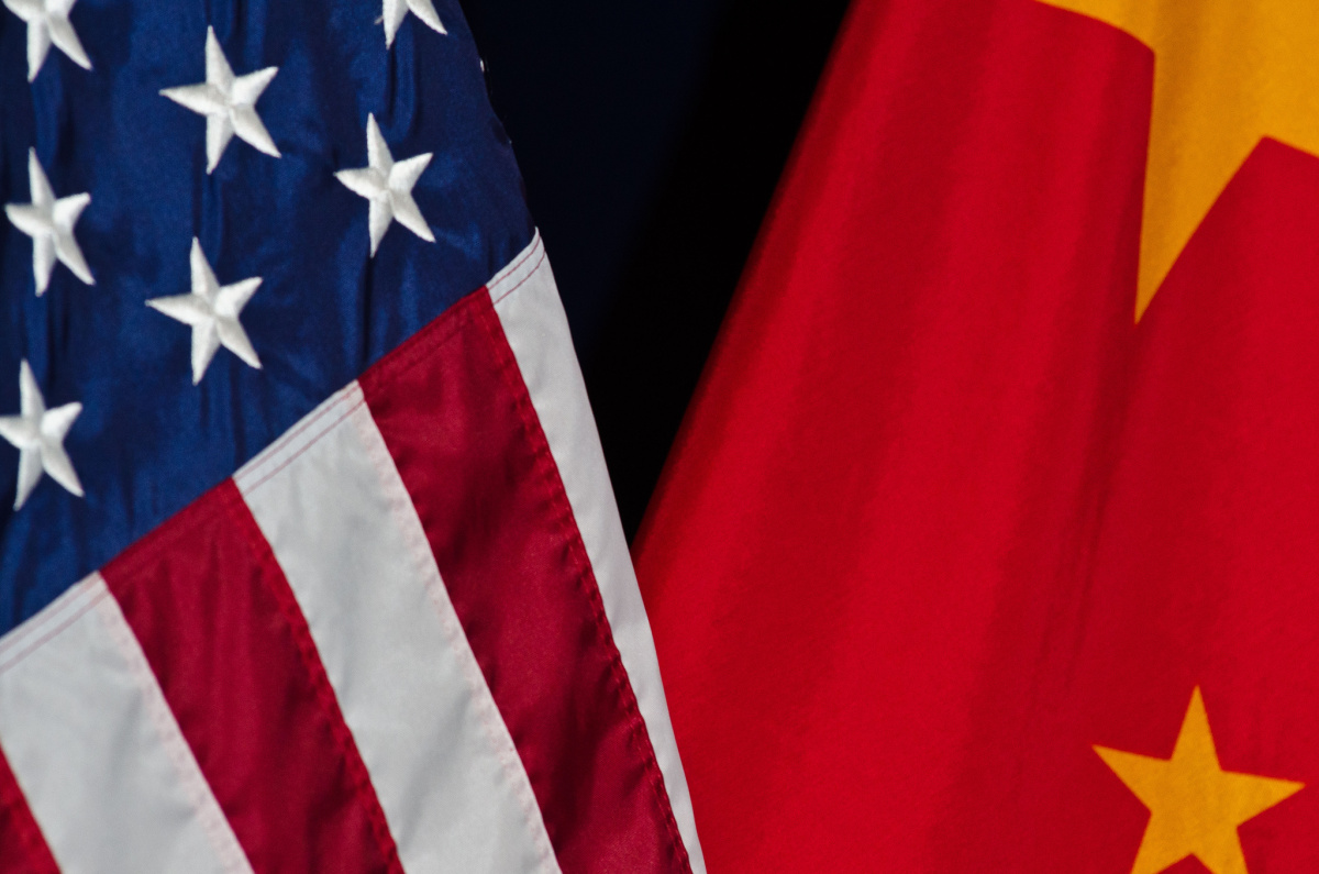 U.S. and China flags at the U.S. China Joint Commission on Commerce and Trade press conference. Flickr/U.S. Department of Agriculture